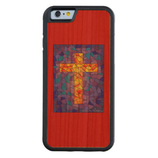 I phone 6 case with a stained glass cross