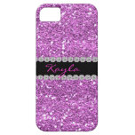 I PHONE CASE LAVENDER CRYSTAL BLING iPhone 5 COVER