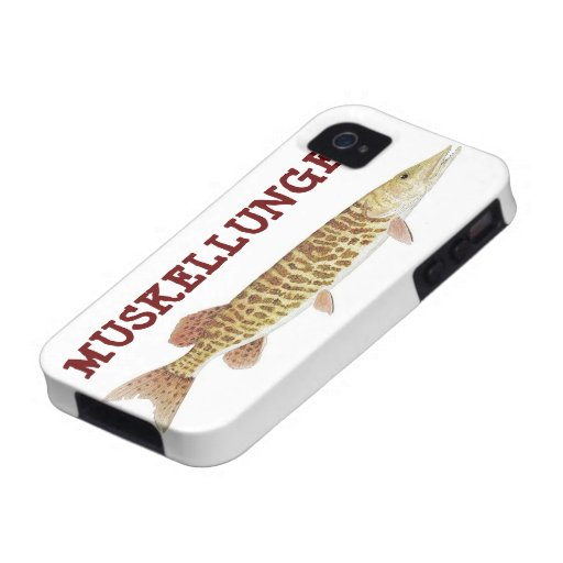 I Phone Case with Barred Muskie iPhone 4 Cover