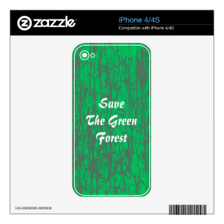 i phone skin green forest iPhone 4S decal