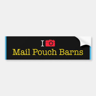 """I Photograph Mail Pouch Barns"" bumper sticker"