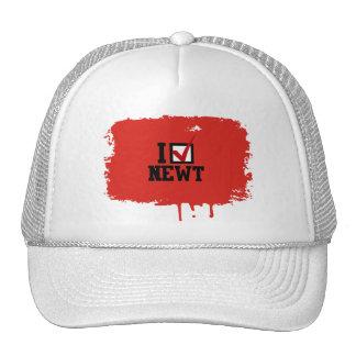 I PICK NEWT TRUCKER HAT