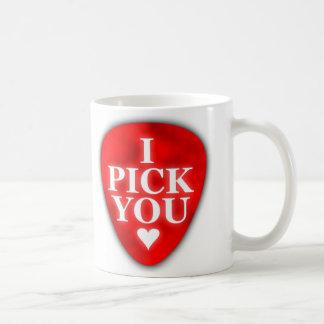 I Pick You Mug-Red With Heart Coffee Mug