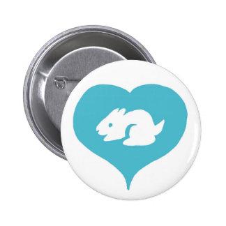 I Pin de los conejitos del corazón Pin Redondo 5 Cm
