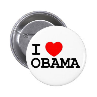 I Pin de Obama del corazón Pin Redondo 5 Cm