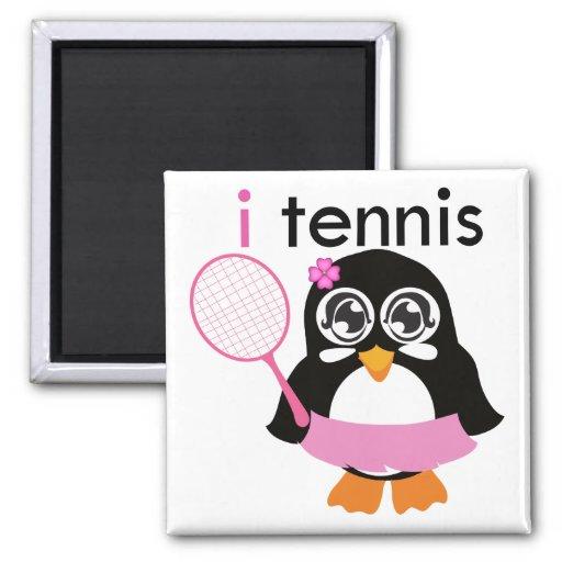 i pingüino del tenis imán de nevera