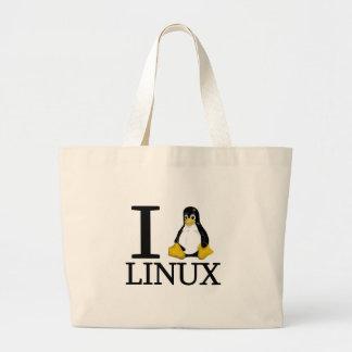 I pingüino Linux 2 Bolsa Tela Grande