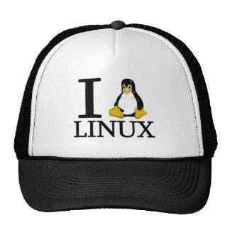 I pingüino Linux 2 Gorros Bordados