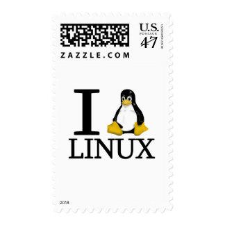 I pingüino Linux 2 Sello Postal