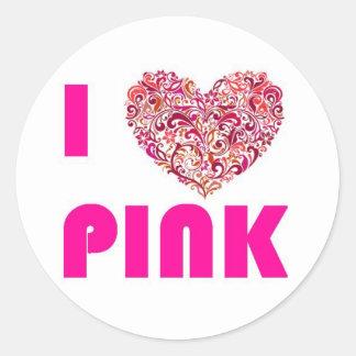 I ♥ Pink Etiquetas