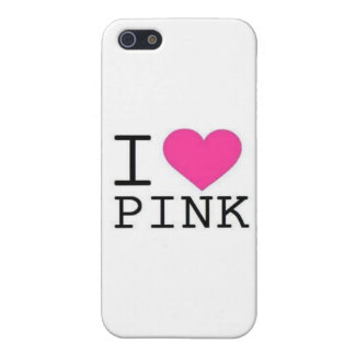 I ♥ PINK! iPhone SE/5/5s COVER