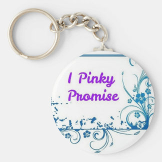 I Pinky Promise to have fun Basic Round Button Keychain
