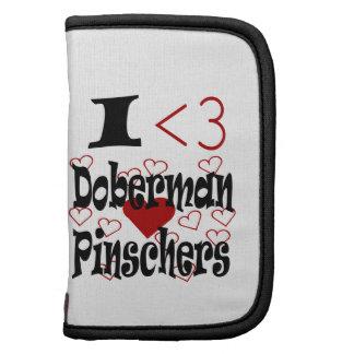 I Pinschers del Doberman del corazón Planificadores