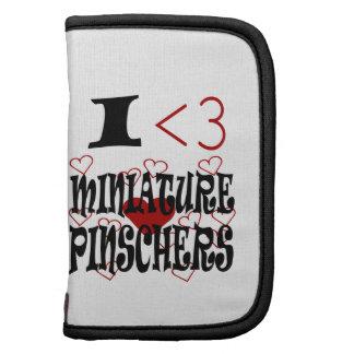 I Pinschers miniatura del corazón Planificador