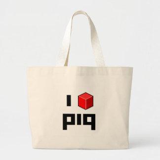 I <> piq bolsa tela grande