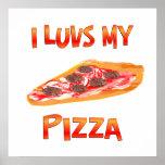 I pizza de Luvs Poster