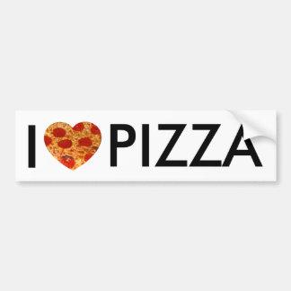 I pizza del corazón pegatina para auto