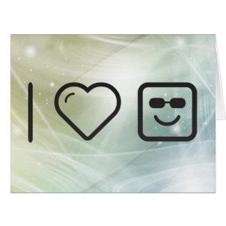 I placeres felices del corazón tarjeta de felicitación grande