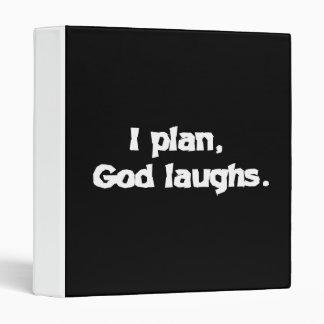 I plan God laughs Vinyl Binder