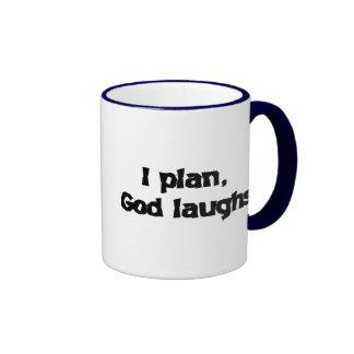 I plan God laughs Coffee Mugs