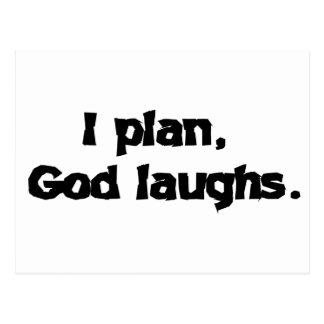 I plan God laughs Postcard
