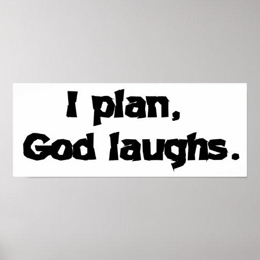 I plan God laughs Poster