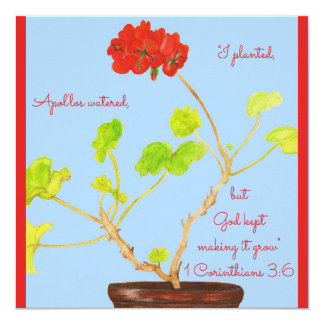 I Planted...God Kept Making it Grow Scripture Card
