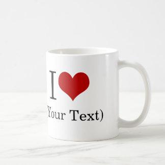 I plantilla del corazón (añada su propio texto de taza básica blanca