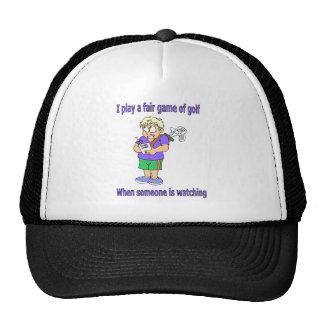 I play a fair game of golf trucker hat