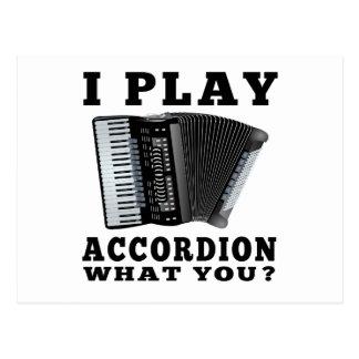 I Play Accordion Postcard