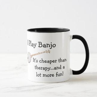 I Play Banjo - Coffee Mug - Cheaper Than Therapy