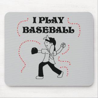 I Play Baseball- Girl Tshirts and Gifts Mousepads