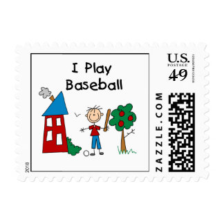 I Play Baseball Postage