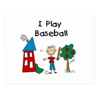 I Play Baseball Postcard