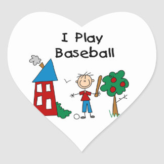 I Play Baseball Sticker