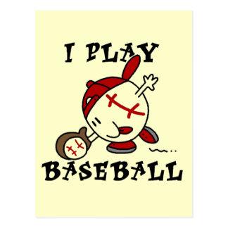 I Play Baseball Tshirts and Gifts Postcard