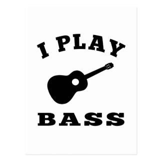 I Play Bass Postcard
