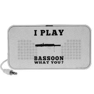 I Play Bassoon Portable Speaker
