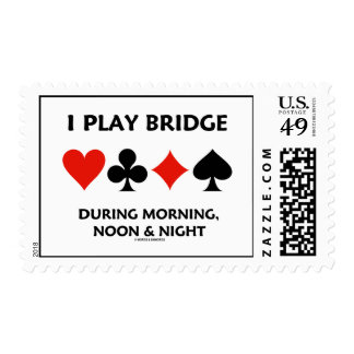 I Play Bridge During Morning, Noon & Night Postage