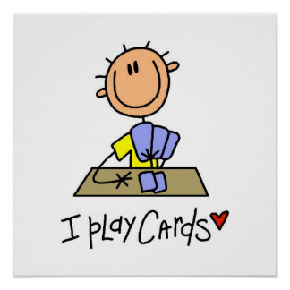 I Play Cards Poster