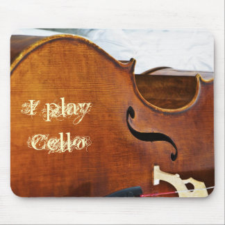 I play Cello Mouse Pad