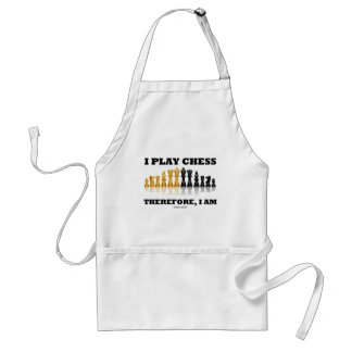 I Play Chess Therefore, I Am (Chess Set) Adult Apron