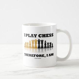 I Play Chess Therefore, I Am (Chess Set) Coffee Mug