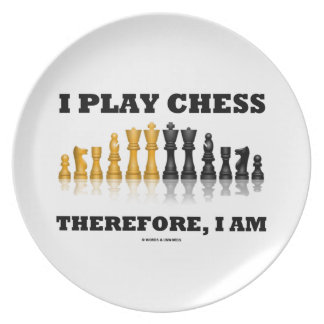 I Play Chess Therefore, I Am (Chess Set) Party Plates