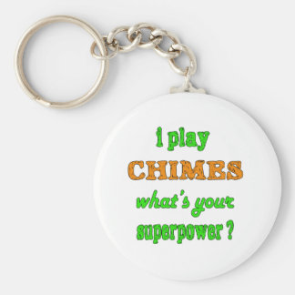 I Play Chimes Basic Round Button Keychain
