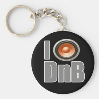 I PLAY DnB Drum and Bass music shirts and gear Basic Round Button Keychain