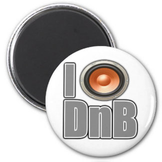 I PLAY DnB Drum and Bass music shirts and gear Fridge Magnet