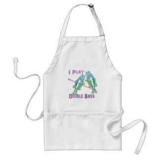 I Play Double Bass Fish Adult Apron