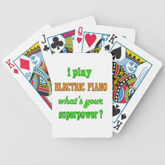 I Play electric piano Bicycle Playing Cards