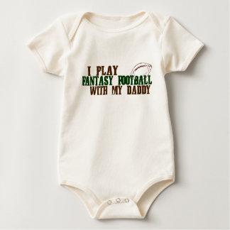 I Play Fantasy Football with my Daddy Baby Bodysuit
